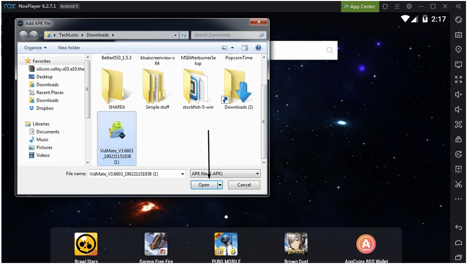 VidMate installation file