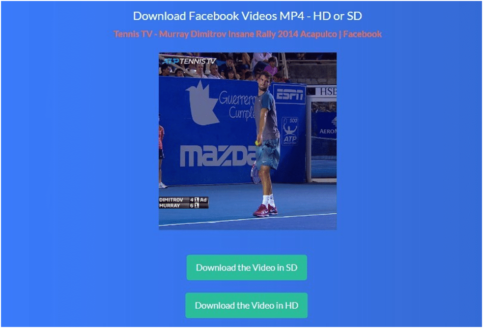Download video in HD or SD