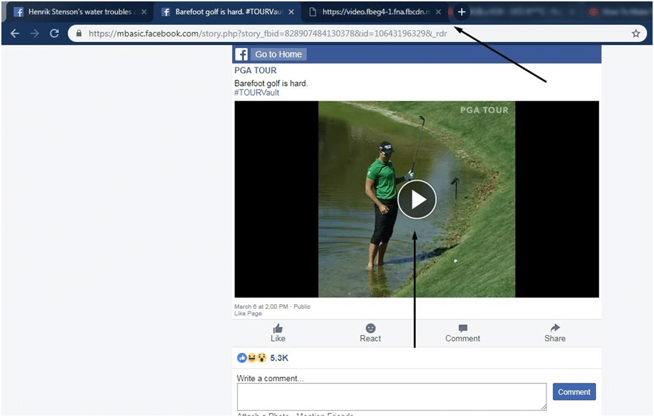 video in a new tab