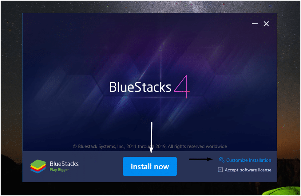 Customize BlueStacks Installation