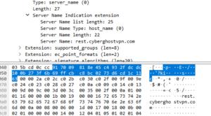 CyberGhost Wireshark SignIn