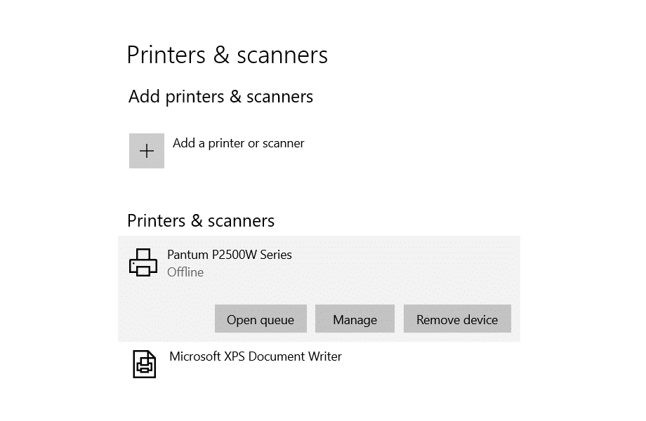 Fix: Printer Offline in Windows 10 Error