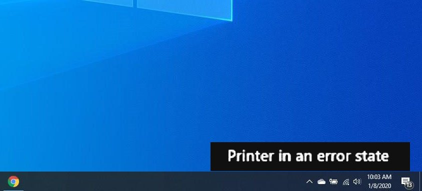 How to Fix Printer in Error State Problem in Windows 10