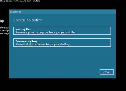 Removing files options