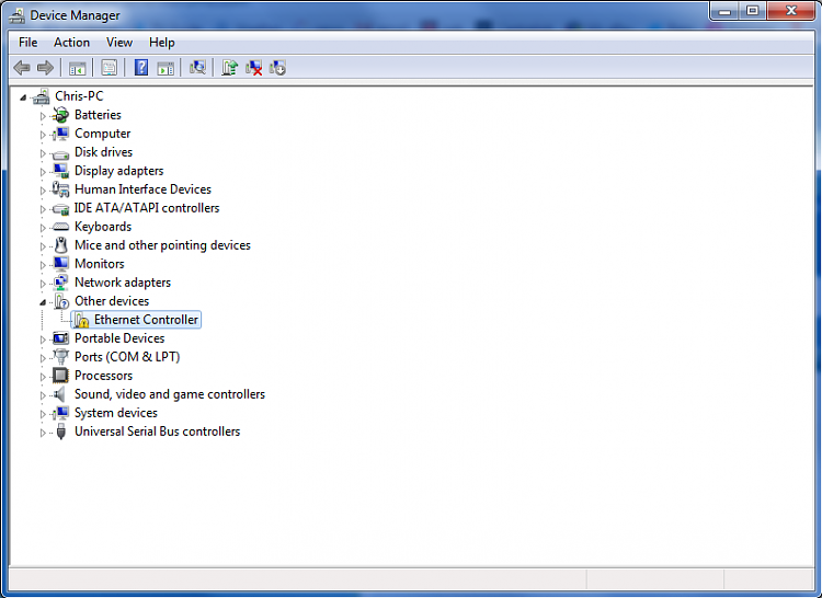 device manager network driver