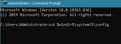 cd %windir%system32config
