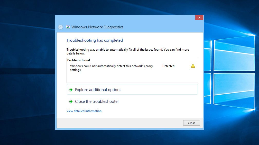 How to Fix Windows Could Not Automatically Detect this Network's Proxy Settings