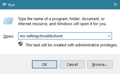 ms-settings:troubleshoot