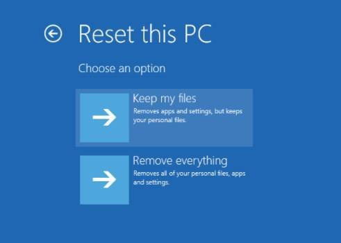 Select Reset PC