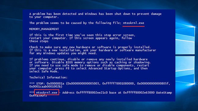How to Fix NTOSKRNL.exe Blue Screen of Death Error on Windows