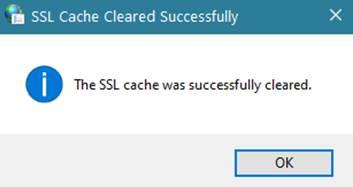 SSL Cache Cleared