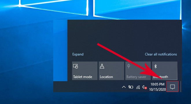 How to Open the Action Center in Windows 10