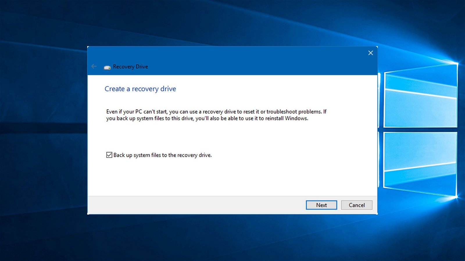 How to Create a Windows 10 Recovery Disk