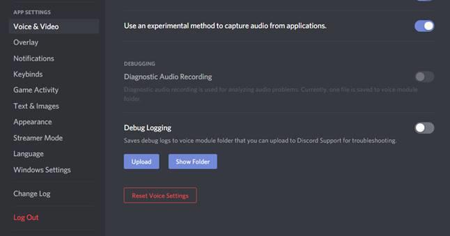 Reset Voice Settings