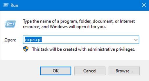 """ncpa.pcl"" on Run Command Box"