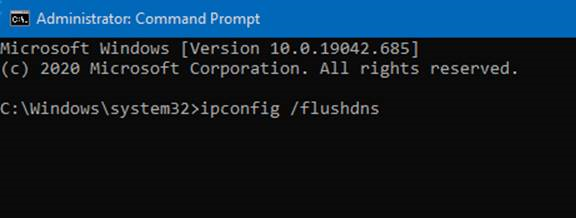 """ipconfig /flushdns"""